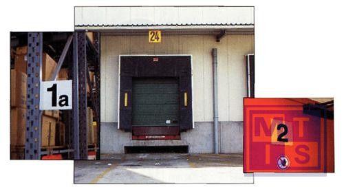 Magazijnsignalisatie rood enkelzijdig pp 200x200mm