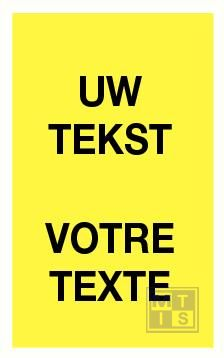 Baken met eigen tekst 620x240