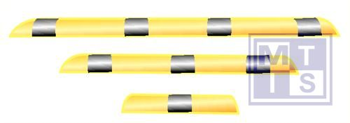 Rolbescherming 76cm verzinkt staal coated 86x1200mm