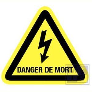 Danger de mort retrorefl. 90mm