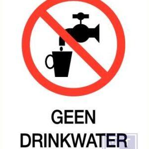 Geen drinkwater pp zelfklevend 140x200mm