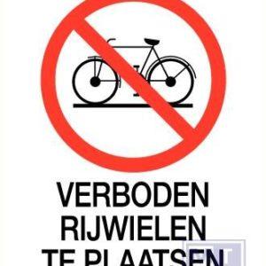 Verboden rijwielen te plaatsen vinyl 140x200mm