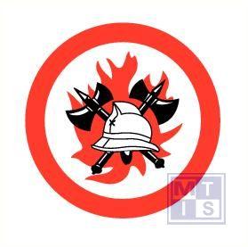 Brandweerhelm vinyl 50x50mm