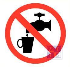 Mini picto Geen drinkwater 20x 20x20mm