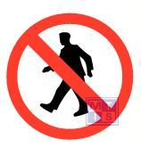 Mini picto voetgangers verboden 54x 15x15mm
