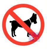Mini picto Honden verboden 54x 15x15mm