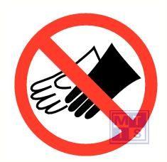 Mini picto Handschoenen verboden 20x 20x20mm