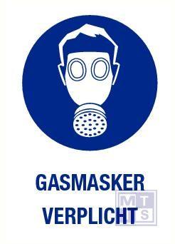 Gasmasker verplicht vinyl 140x200