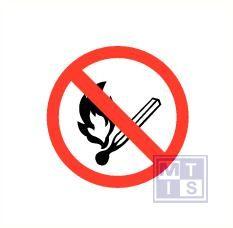 Mini picto Open vuur verboden 54x 15x15mm