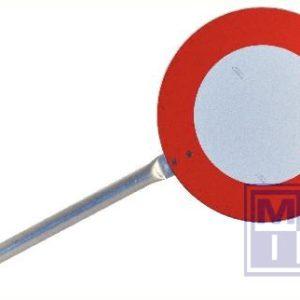 Seingeversbord met handvat alu refl. 220mm