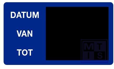 Krijtborden Nederlands TYPE 2000 350x300mm