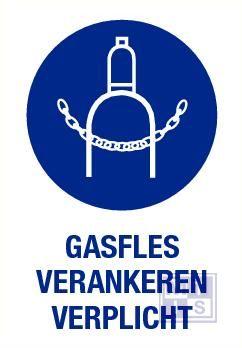 Gasfles verankeren verplicht pp 140x200mm