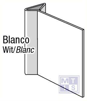 Blanco haaks pvc 150x150mm
