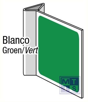 Blanco groen haaks pvc 150x150mm