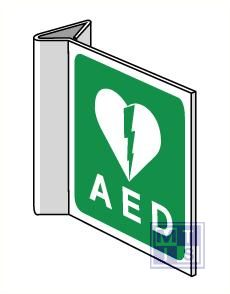 AED haaks 150x150mm pvc