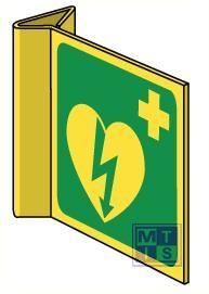 AED haaks ilcor pvc fotolum 200x200mm