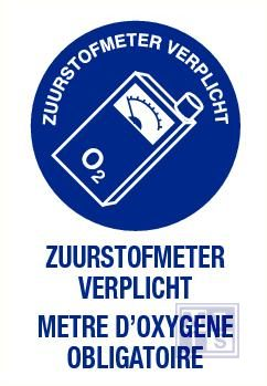 Zuurstofmeter verplicht nl/fr vinyl 140x200mm