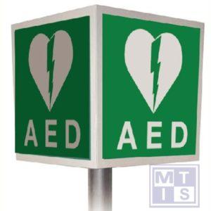 AED 4D alu plat 400mm refl klasse 1 stel 76mm dia