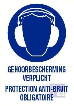 Gehoorbescherming verplicht nl/fr vinyl 140x200mm