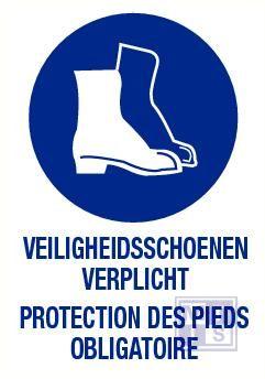Veiligheidsschoenen verplicht nl/fr pp 140x200mm