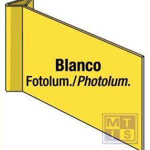 Blanco geel haaks pvc fotolum 300x150mm