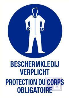 Beschermkleding verplicht nl/fr vinyl 140x200mm