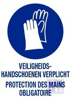 Veiligheidshandschoenen verplicht nl/fr pp 140x200mm