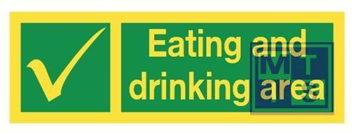 Imo eat and drink area vinyl fotolum 300x100mm