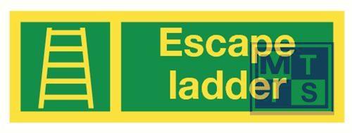 Imo escape ladder vinyl fotolum 300x100mm