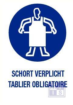 Schort verplicht nl/fr pp 140x200mm