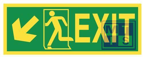 Imo exit down / left vinyl fotolum 400x150mm