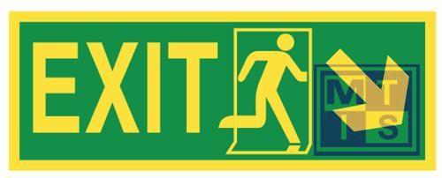 Imo exit down / right vinyl fotolum 400x150mm