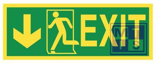 Imo exit left/down vinyl fotolum 400x150mm
