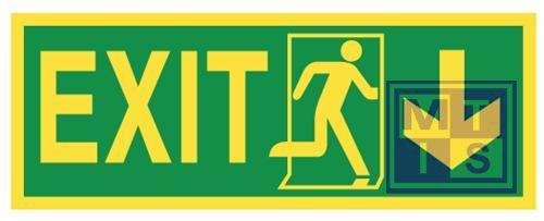 Imo exit right/down vinyl fotolum 400x150mm