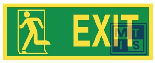 Imo exit left vinyl fotolum 400x150mm
