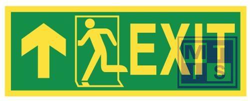 Imo exit straight/left vinyl fotolum 400x150mm