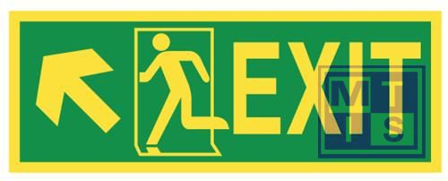 Imo exit up and left vinyl fotolum 400x150mm