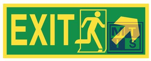 Imo exit up and right vinyl fotolum 400x150mm