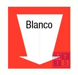 Blanco pijl  pp 200x200mm