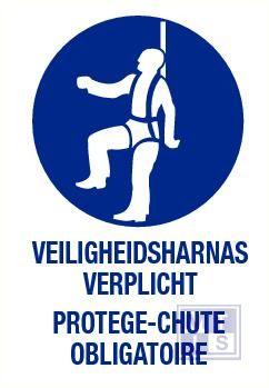 Veiligheidsharnas verplicht nl/fr pp 140x200mm