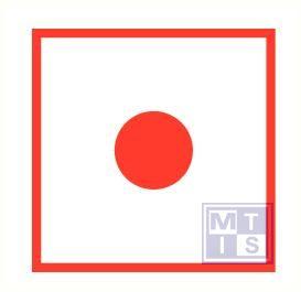 Brandmeldknop vinyl 100x100mm