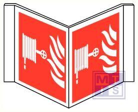 Brandslang/vlam panoramisch pvc 400x200mm