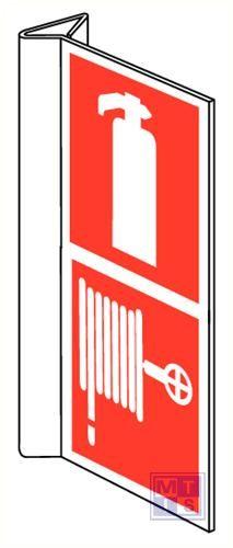 Blusapparaat/brandslang combi haaks pvc 100x200mm