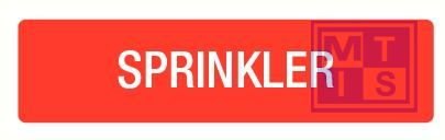 Sprinkler pp 210x74mm