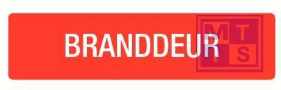 Branddeur vinyl 210x74mm
