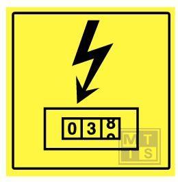 Elektriciteitsteller alu plat