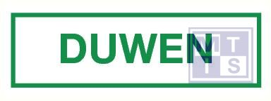 Duwen vinyl 40x90mm