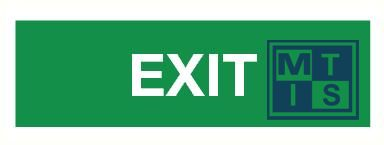 Exit pp 400x150mm