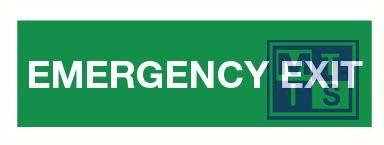 Emergency exit pp 500x150mm
