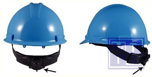 Helm blauw met draaiknop